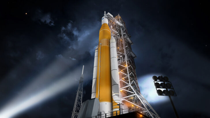 SLS. Фото NASA / Marshall Space Flight Center