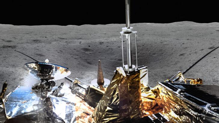 Панорама Луны с «Чанъэ-4». Фото CNSA