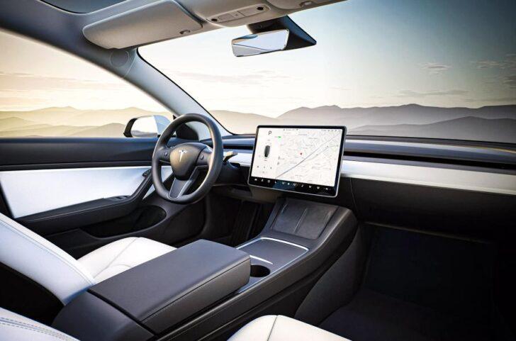 Tesla Model 3 interrior. Фото Tesla