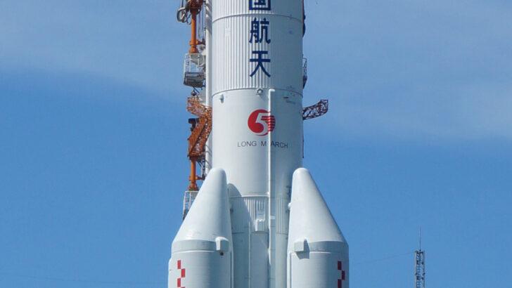 Фрагмент ракеты «Чанчжэн-5». Фото 篁竹水声