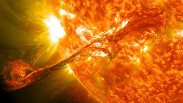 Солнечная вспышка. Фото NASA Goddard Space Flight Center