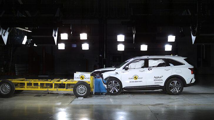 Краш-тест Kia Sorento. Фото Euro NCAP