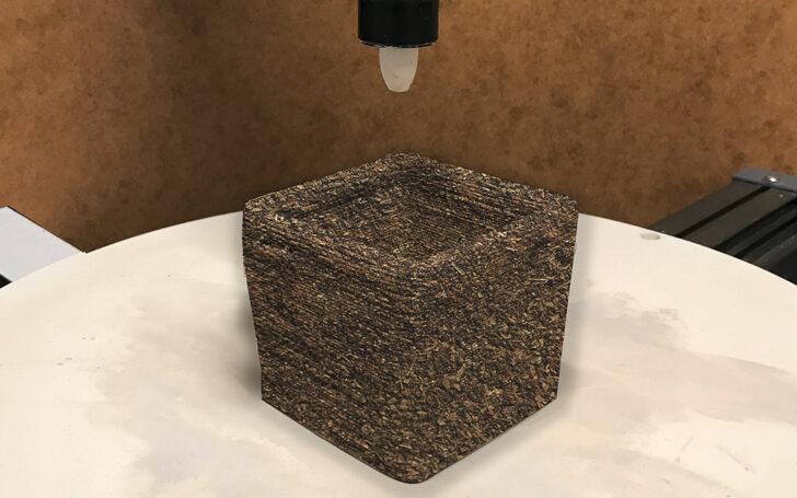 3D-печать образца на основе мицелия. Фото Fraunhofer-Gesellschaft e.V.