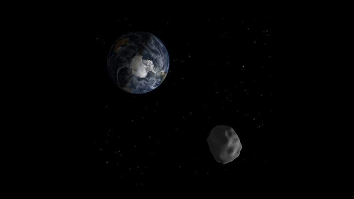 Астероид рядом с Землей. Иллюстрация NASA/JPL