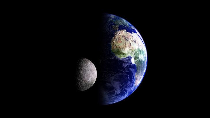 Земля и Луна. Фото Kevin Gill