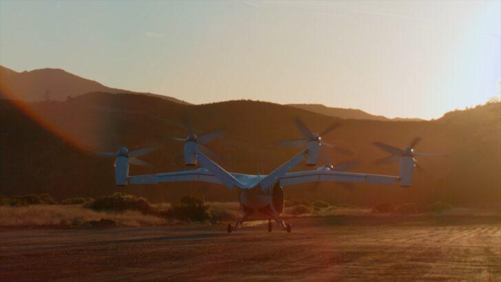 Подготовка в взлету. Кадр из видео Joby Aviation