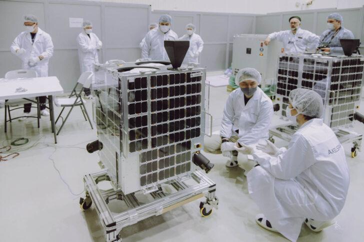 Космические аппараты GRUS. Фото Роскосмос