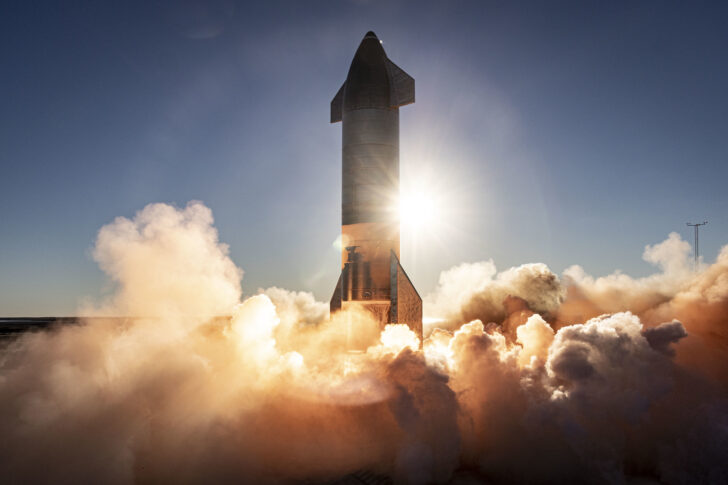 Прототип космического корабля Starship. Фото SpaceX