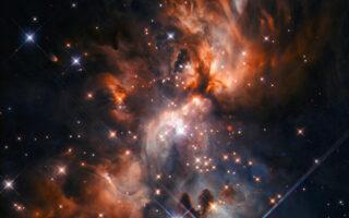 Звездный питомник AFGL 5180. Фото ESA/Hubble & NASA, J. C. Tan , R. Fedriani