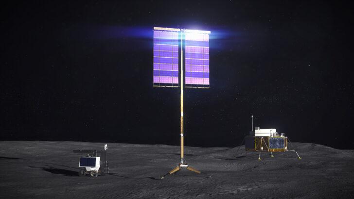 Вертикальная солнечная батарея. Иллюстрация NASA