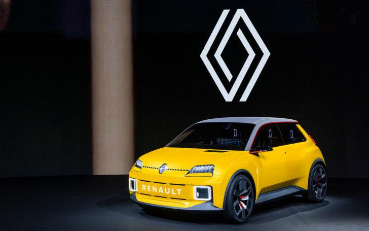 Новый логотип Renault и прототип Renault 5. Фото пресс-службы Renault
