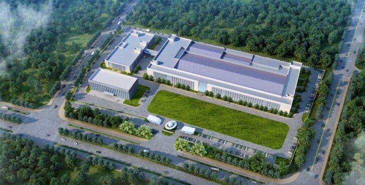 Рендер фабрики Тайчжоу. Иллюстрация Geely