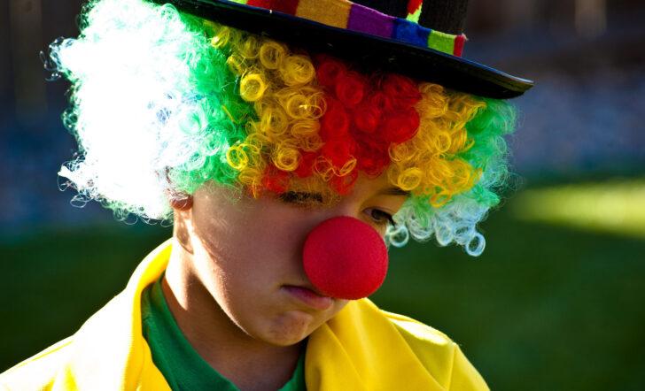 Грустный клоун. Фото Shawn Campbell (CC BY 2.0)