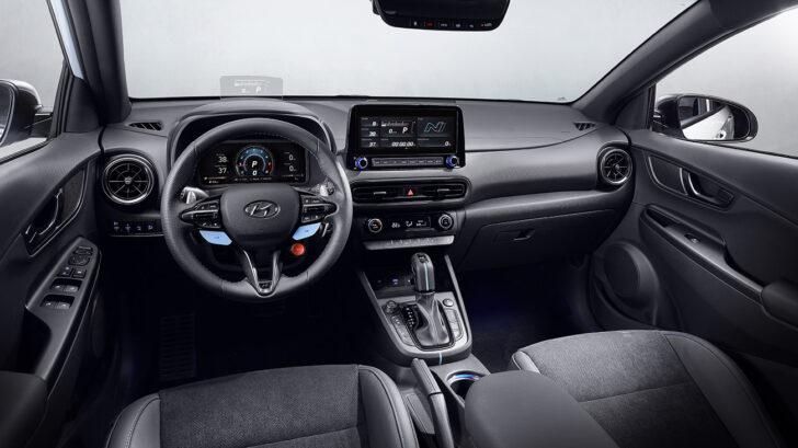Интерьер Hyundai Kona N. Фото Hyundai