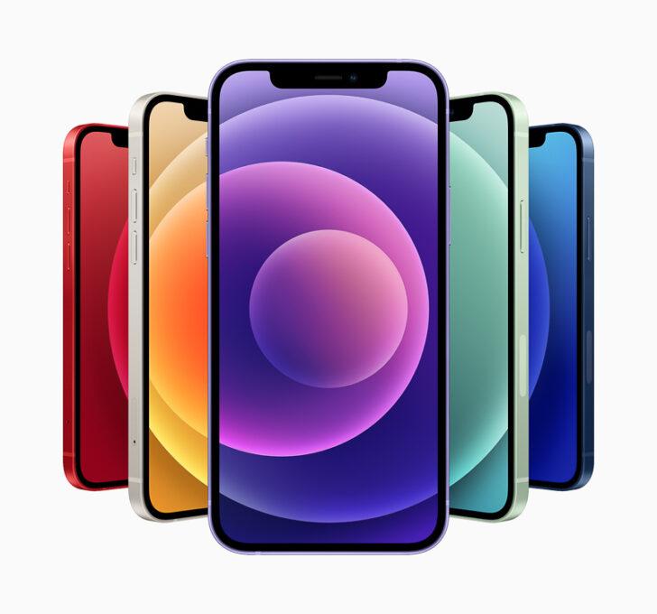 Цветовая гама iPhone 12 и iPhone 12 mini. Фото Apple