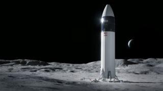 Посадочный модуля космического корабля SpaceX Starship. Иллюстрация SpaceX