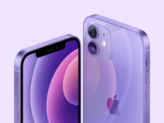 Фиолетовые iPhone 12 и iPhone 12 mini. Фото Apple