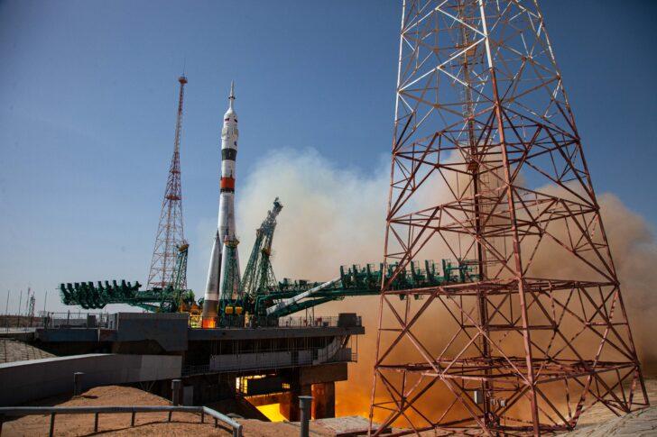 Пуск ракеты «Союз-МС18». Фото Роскосмос