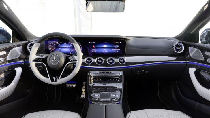 Салон Mercedes-Benz CLS. Фото Mercedes-Benz