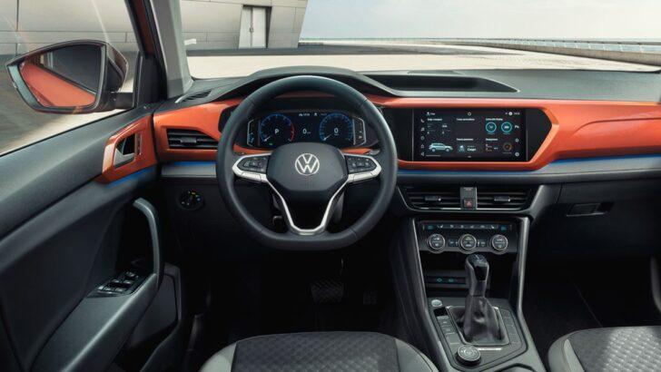 Интерьер Volkswagen Taos. Фото Volkswagen