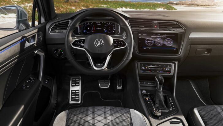 Интерьер Volkswagen Tiguan Allspace. Фото Volkswagen