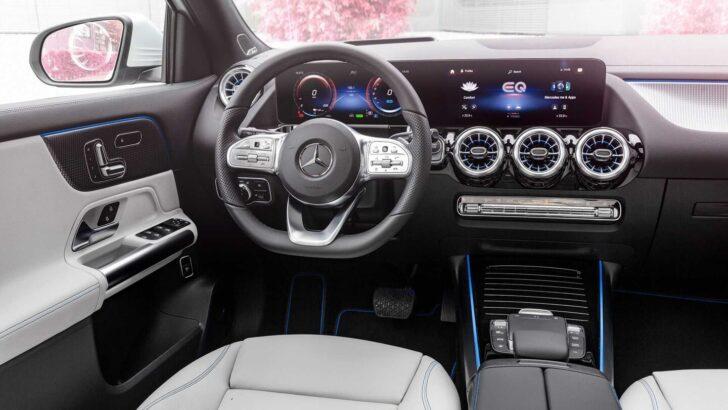 Салон Mercedes-Benz EQA. Фото Mercedes-Benz