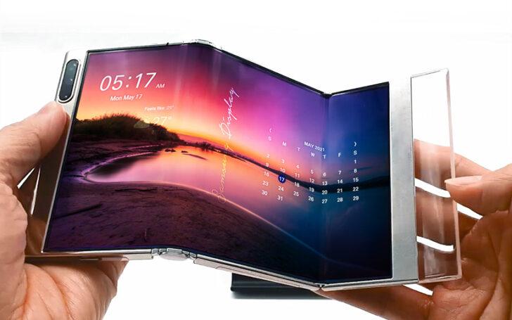 S-образный дисплей. Фото Samsung