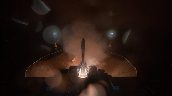 Запуск ракеты «Союз-2.1б» с космическими аппаратами OneWeb. Фото КЦ «Восточный» / Роскосмос