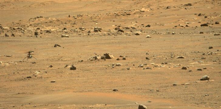 Вертолет Ingenuity на Марсе. Фото NASA