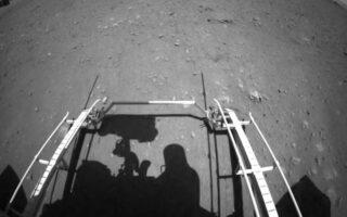 Развертывание марсохода Zhurong на Марсе. Фото CNSA