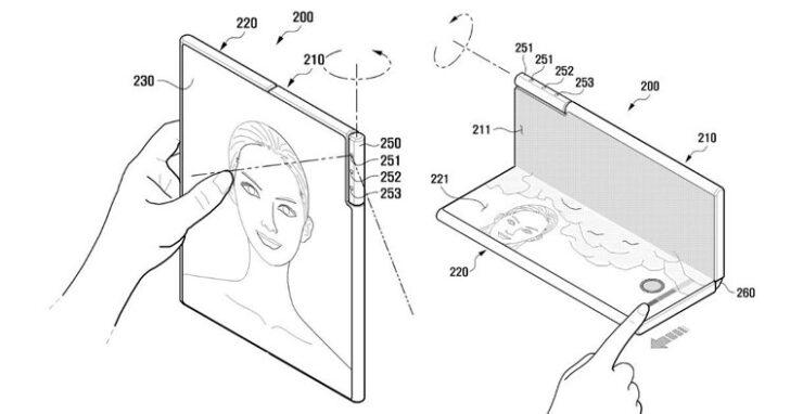 Новый складной смартфон Samsung. Изображение WIPO