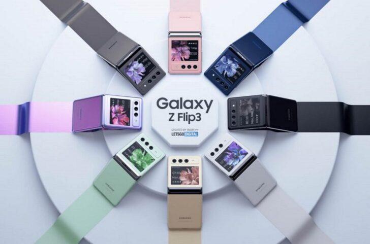 Неофициальный рендер Samsung Galaxy Z Flip 3. Изображение LetsGoDigital