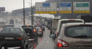 Трафик на МКАДе. Фото Moscow-Live.ru